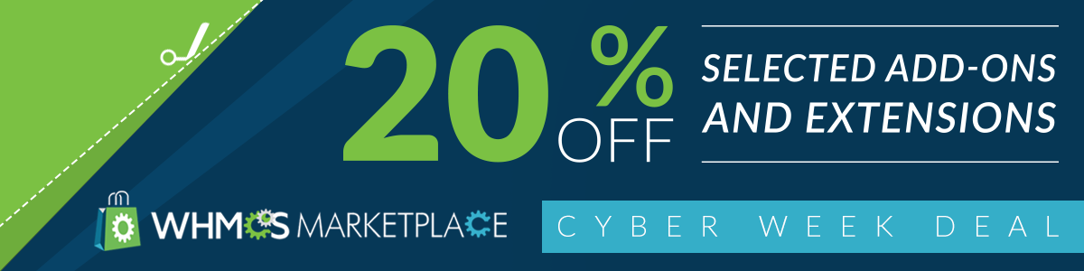 WHMCS Marketplace Cyber Week Promotion 2016