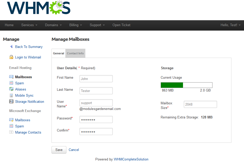 Rackspace Email Extended For WHMCS - WHMCS Marketplace