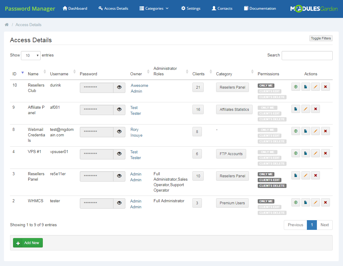 Password Manager For WHMCS - WHMCS Marketplace