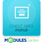 Client Area Popup For WHMCS
