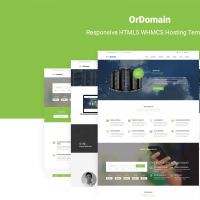 OrDomain | Responsive HTML5 WHMCS Hosting Template