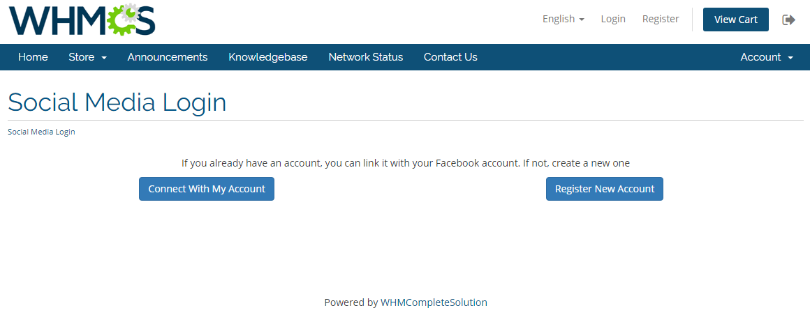 Social Media Login For WHMCS - WHMCS Marketplace