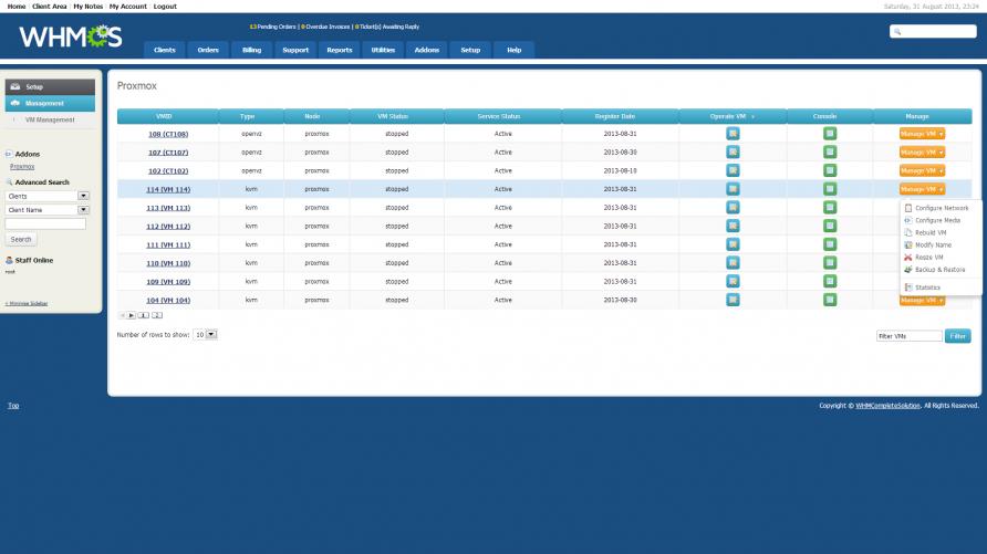 Proxmox VPS - WHMCS Marketplace