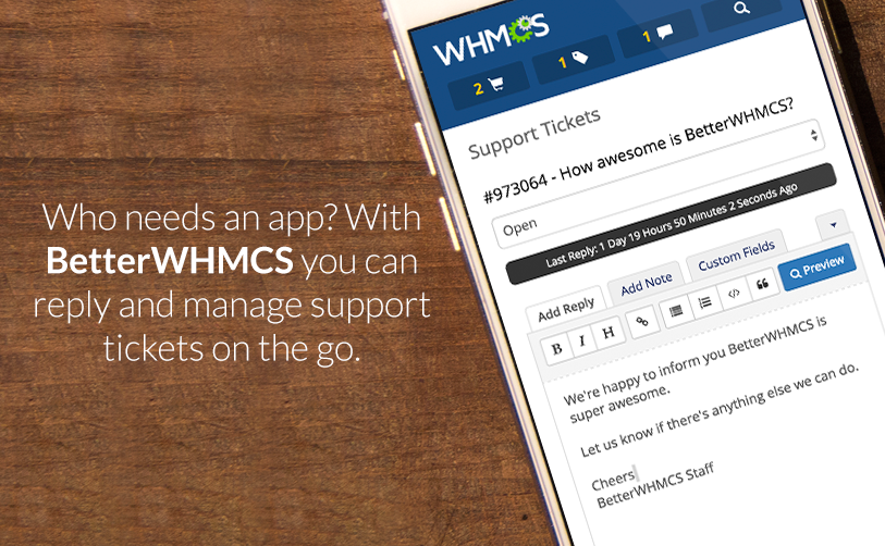 BetterWHMCS Mobile Admin Theme - WHMCS Marketplace