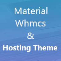 Kit Material Whmcs Theme & Html Hosting Theme