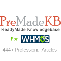 PreMadeKB WHMCS Knowledgebase - Step by Step + Images
