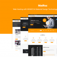 MatRoz | Web Hosting with WHMCS & Material Design Technology Business Template