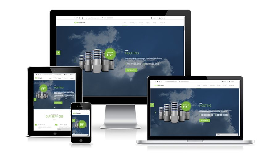 OrDomain | Responsive WHMCS Hosting WordPress Theme - WHMCS Marketplace