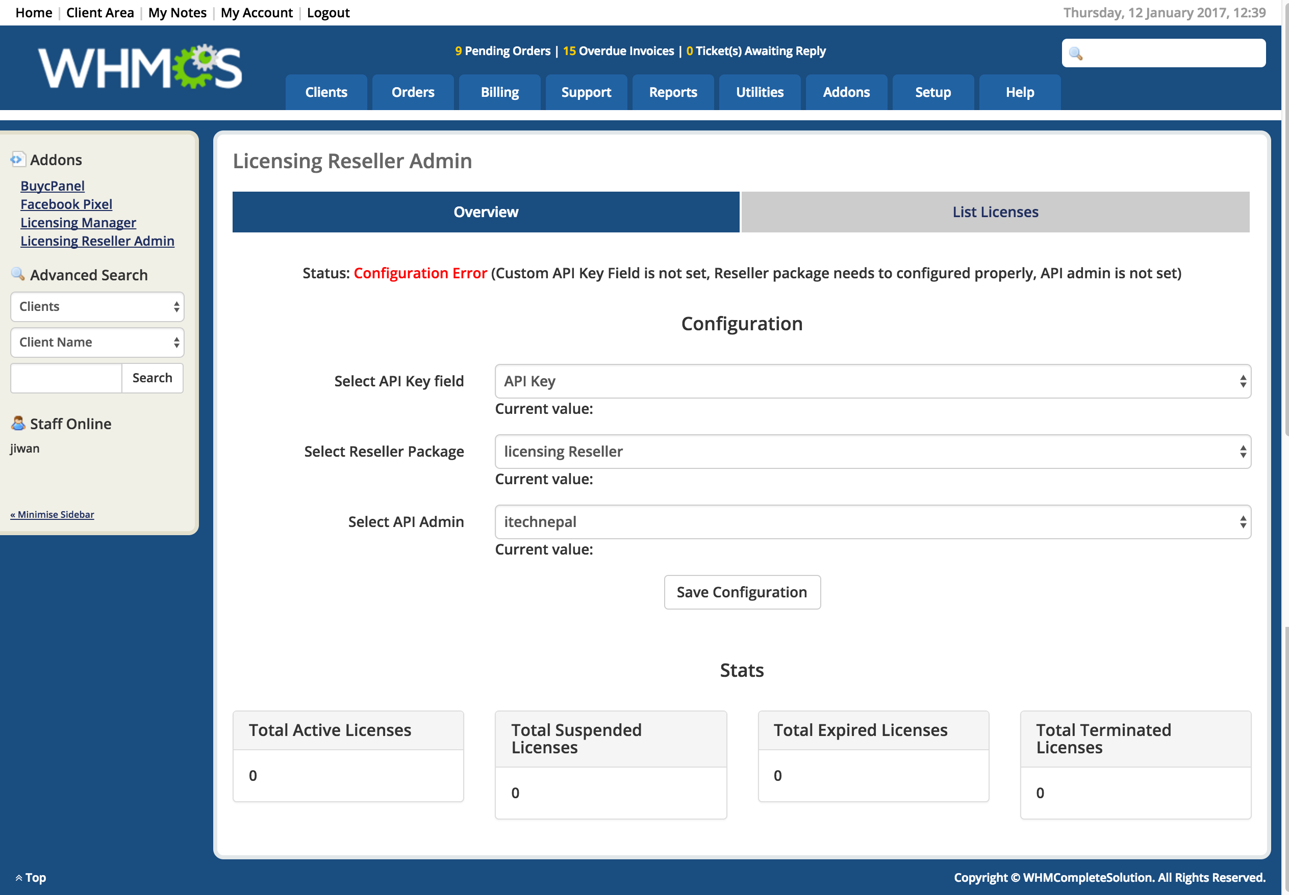 License Reseller Module - WHMCS Marketplace