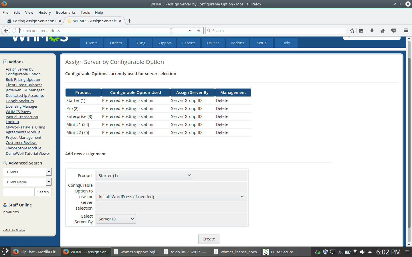 Assign Server on Configurable Option - WHMCS Marketplace