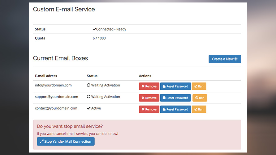 Yandex Mail for Domains Integration - WHMCS Marketplace