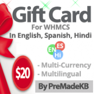 WHMCS Gift Card Module - By PreMadeKB