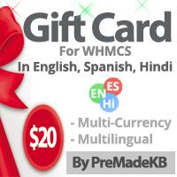 WHMCS Gift Card Module - By PreMadeKB
