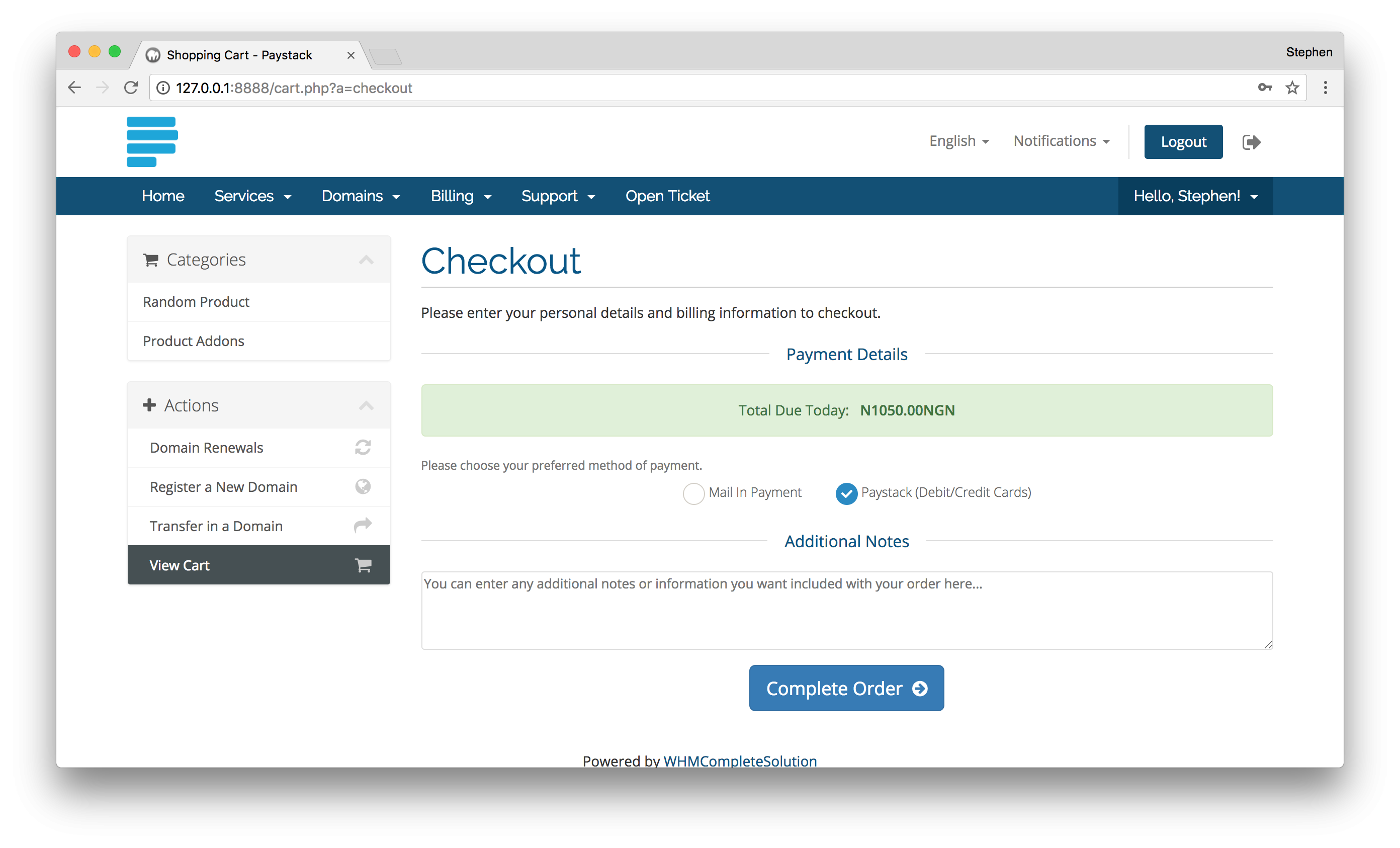 Paystack Payment Gateway for WHMCS - WHMCS Marketplace