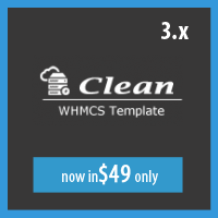 Clean WHMCS template