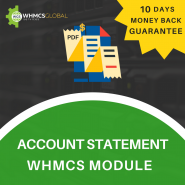 Advance Account Statement WHMCS Module