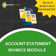 Advance Account Statement WHMCS Module
