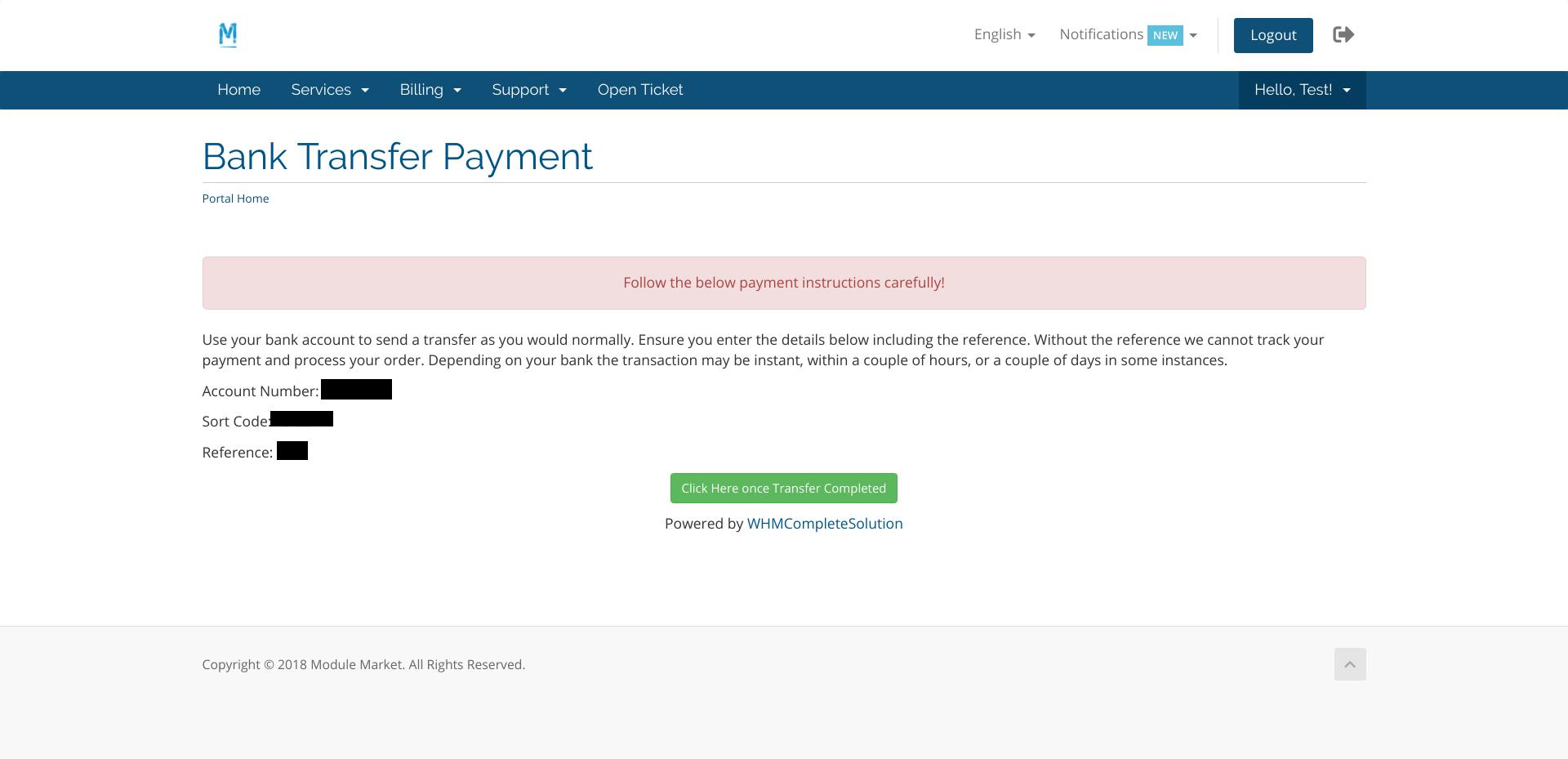 Auto Bank Transfer (Revolut) - WHMCS Marketplace