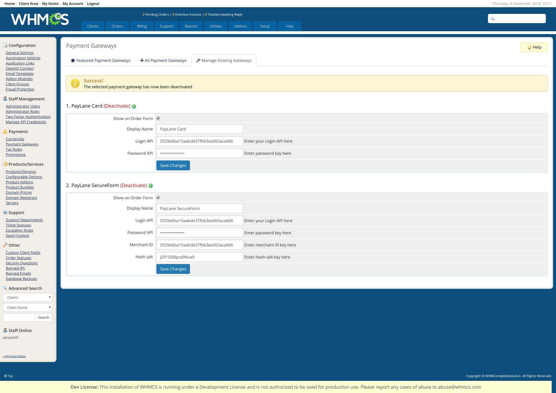 PayLane payment gateway plugin - WHMCS Marketplace