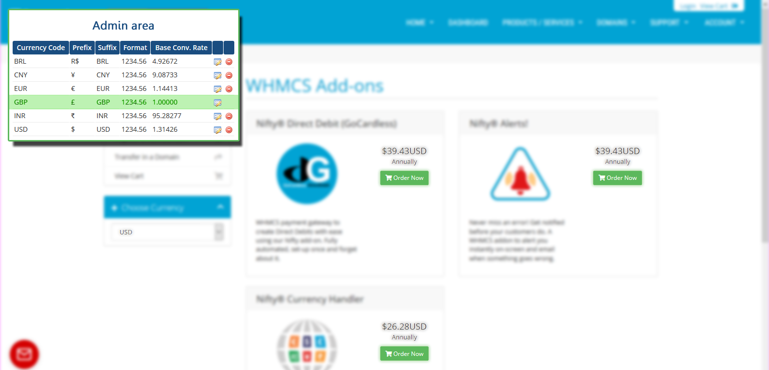 Nifty Currency Changer Whmcs Marketplace