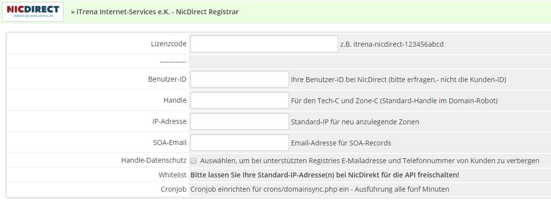 NICDIRECT Registrar-Module - WHMCS Marketplace