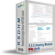 ResellerClub Single Domain & DIY Sitebuilder Hosting Module