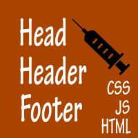 Head+Header+Footer Code Injection
