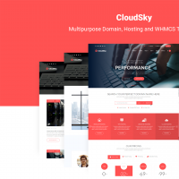 CloudSky | Multipurpose Domain, Hosting and WHMCS Template