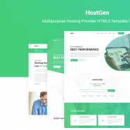 HostGen - Multipurpose Hosting Provider HTML5 Template With WHMCS