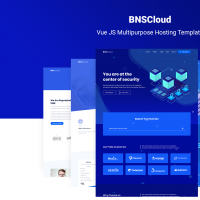 BNSCloud | Vue JS Multipurpose Hosting Template