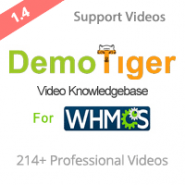 DemoTiger WHMCS Video Knowledgebase - Full HD + HD with Audio & Text Instructions