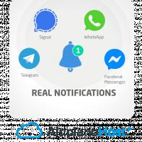 WhatsApp Facebook Telegram Notification