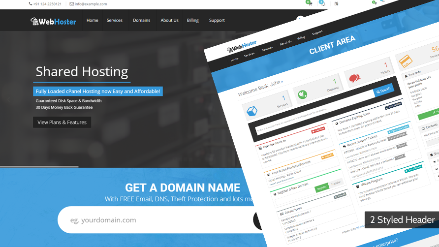 WebHoster - WHMCS Template - WHMCS Marketplace